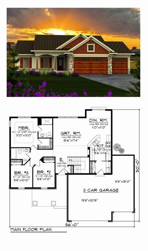 Top Amazing 3 Car Garage House Plans, Three Car Garage House Plans